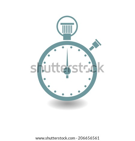Vector chronometer on blue background - stock vector