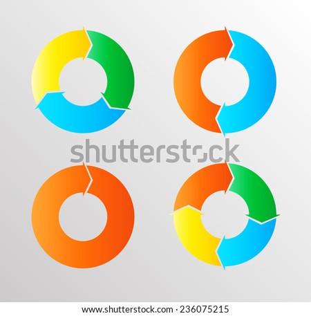 Vector Circle Arrows . Circular Arrows Collection . - stock vector