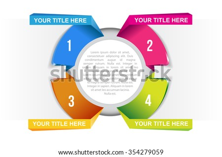 Vector circle graph with label for infographic - stock vector