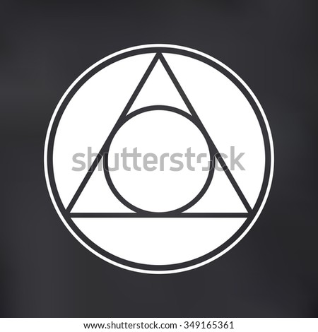 Vector Circle Triangle Symbol Illustration On Stock Vector Royalty