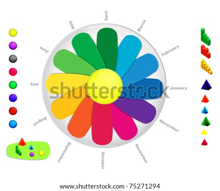 Vector circle infographic - stock vector
