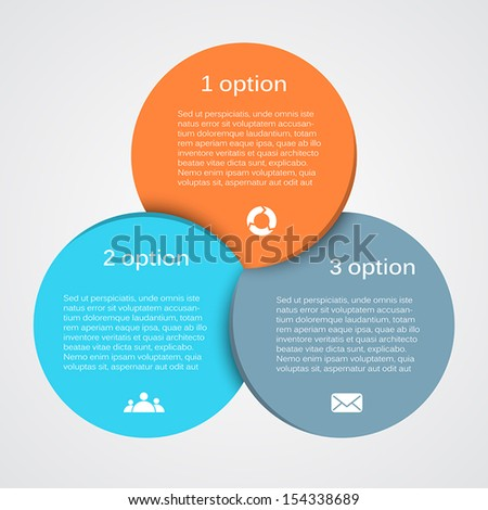 Vector circle infographic. Template for diagram, graph, presentation and chart. Business concept with three options, parts, steps or processes. Abstract background. - stock vector