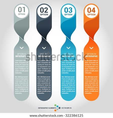 Vector circle infographics set. Template for circle diagram, graph, presentation and chart. Business concept with 4 options, parts, steps or processes. Abstract background. - stock vector