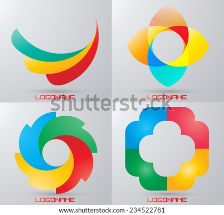 Vector Circle Logo Design Template . Infinite Loop Shape Cycle Creative Symbols .  - stock vector