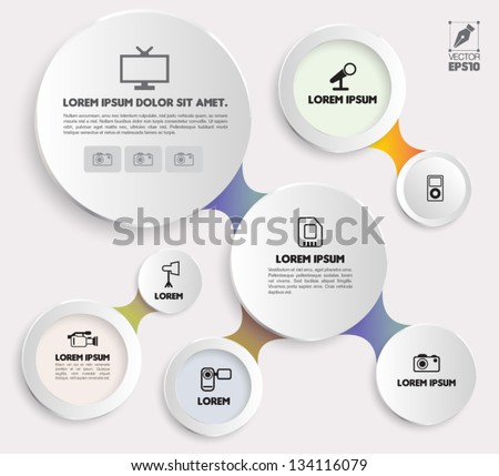 Vector circle modern for business concepts with  icons / can use for info-graphic / loop business report or plan / modern template / education template / business brochure /  system diagram - stock vector