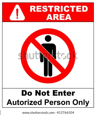 Vector Circle Prohibited Sign Restricted Area Stock Vector ...