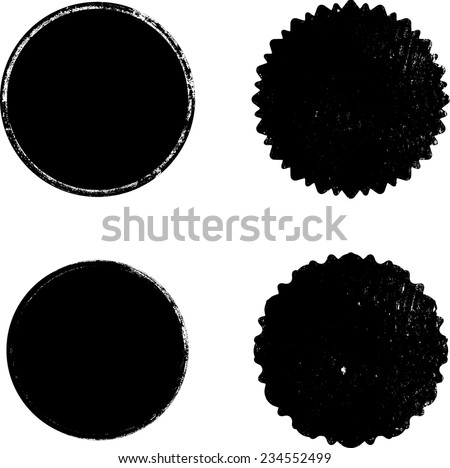 Vector Circle Shapes Collection . Set of Circle Stamps . - stock vector