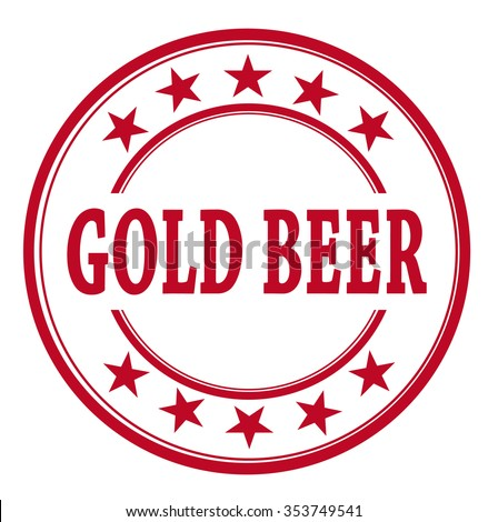 "vector circle stamp ""gold beer"""