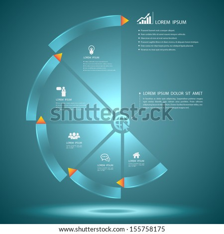 Vector circle step business concepts with icons / can use for infographic/loop business report or plan / modern template / education template / business brochure / system diagram  - stock vector