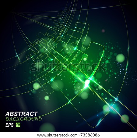 Vector Circuit Board - stock vector