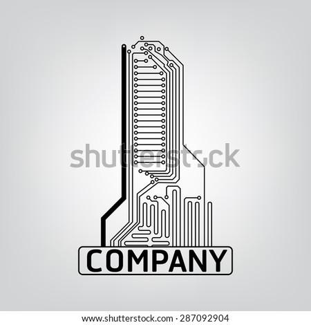 Vector Circuit Board Logo Elements Stock Vector 287092904 - Shutterstock