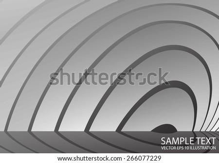 Vector circular metal reflected background illustration - Metal vector circular abstract reflected template - stock vector