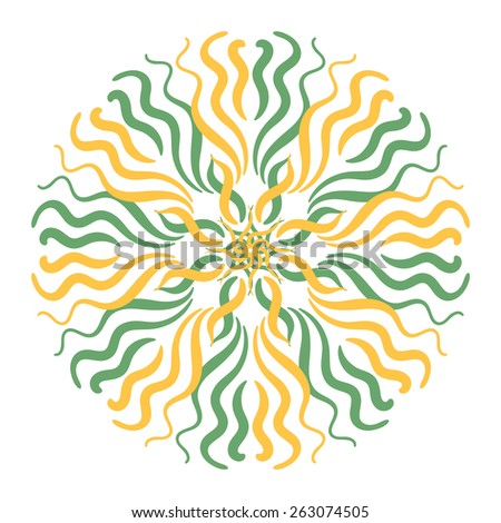 Vector circular summer ornament