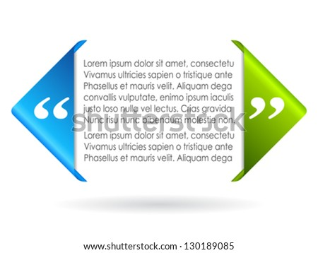 Vector citation symbol, add your text - stock vector
