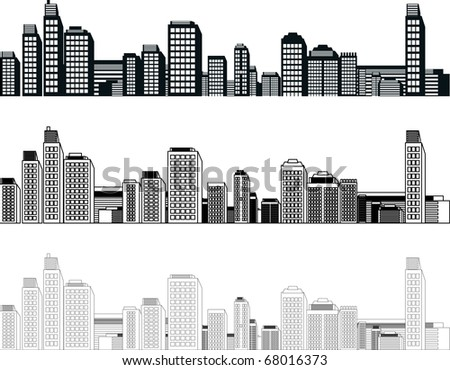 vector cities - stock vector