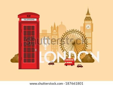 Vector city background. London - stock vector