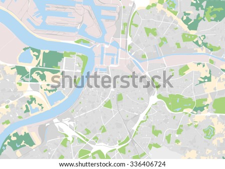 Vector City Map Antwerp Belgium Stock Vector 336406724 Shutterstock