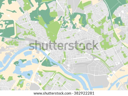 Vector City Map Arnhem Netherlands Stock Vector 382922281 Shutterstock