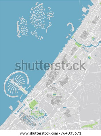 United arab emirates map stock images royalty free images vector city map of dubai with well organized separated layers gumiabroncs Image collections