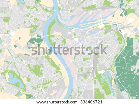 Vector City Map Duisburg Germany Stock Vector 336406721 Shutterstock