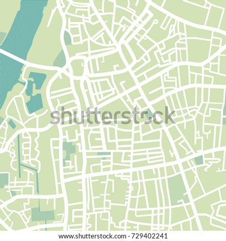 vector city map of east london united kingdom