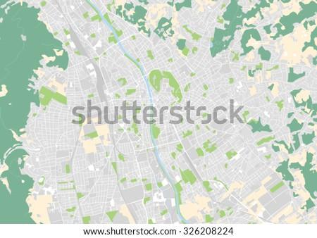 Vector City Map Graz Austria Stock Vector 326208224 Shutterstock