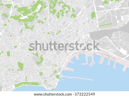 vector city map of Naples, Italy