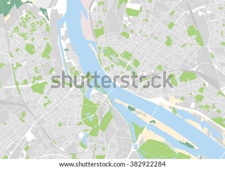 Vector City Map Riga Latvia Stock Vector 382922284 Shutterstock
