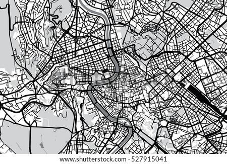 Vector City Map Rome Italy Stock Vector 527915041 Shutterstock
