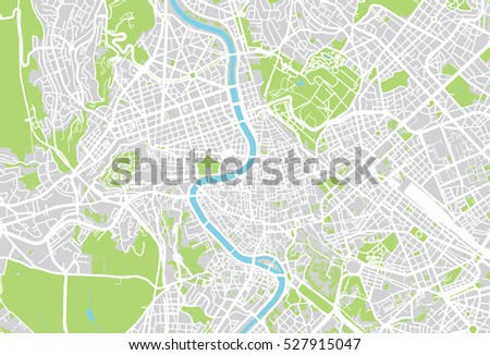 Vector City Map Rome Italy Stock Photo Photo Vector Illustration