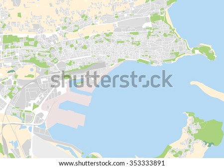 Vector City Map Santander Spain Stock Vector HD Royalty Free