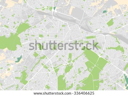 vector city map of Sofia, Bulgaria - stock vector