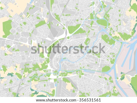 Vector City Map Strasbourg France Stock Vector Shutterstock - Strasbourg france map