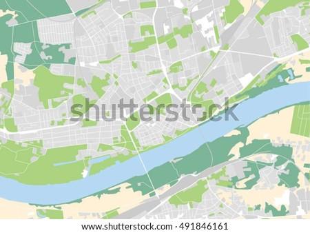 Vector City Map Torun Poland Stock Vector 491846161 Shutterstock