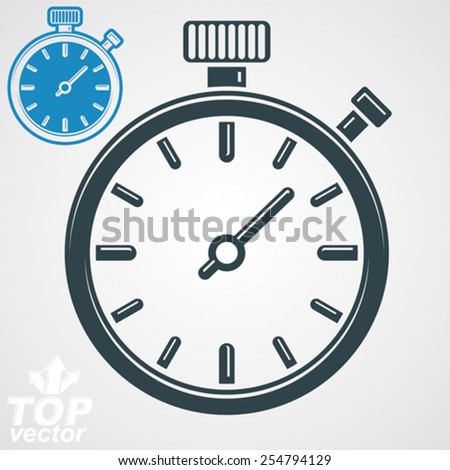 Vector classic stopwatch, additional version included. Eps 8 highly detailed vector illustration. Pocket watch conceptual design element. - stock vector