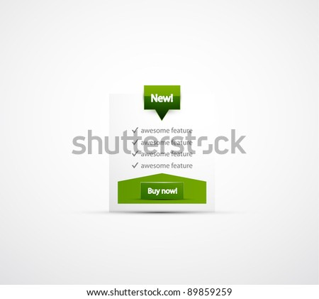 Vector clean green web box - stock vector