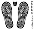 vector clean shoe imprints - stock vector