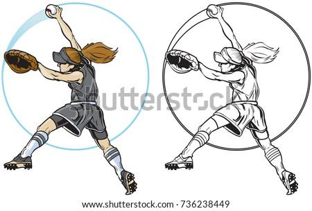 Vector Cartoon Clip Art Illustration Mean Stock Vector