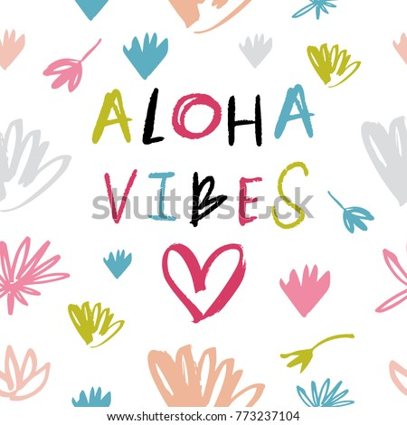vector clip art hand drawn pattern stock vector 773237104 shutterstock rh shutterstock com aloha clipart black and white aloha clipart free