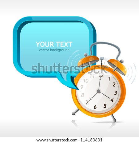 Vector clock banner for your text - stock vector