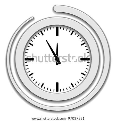 Vector clock face icon - stock vector