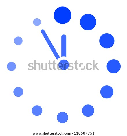 Vector clock icon - stock vector