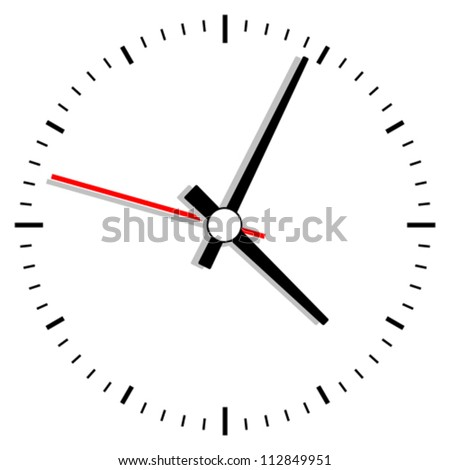Vector clock illustration - stock vector