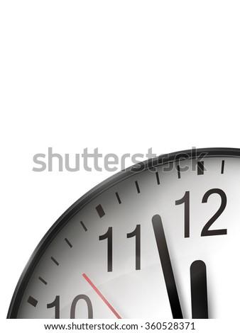 vector clock illustration - stock vector