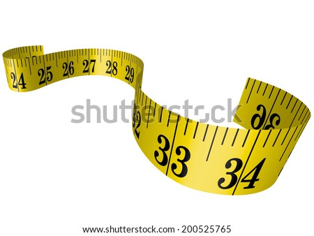 Vector clothmeasure / measuring tape 3D - stock vector