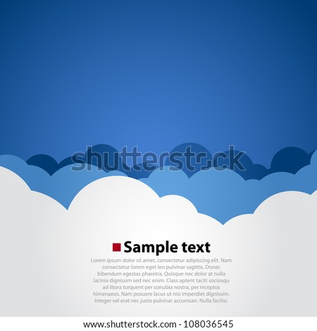 Vector cloud background - stock vector