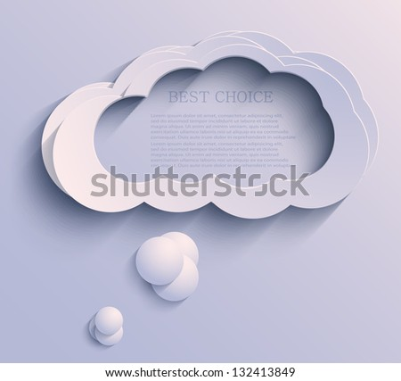 Vector cloud background. Eps10 - stock vector