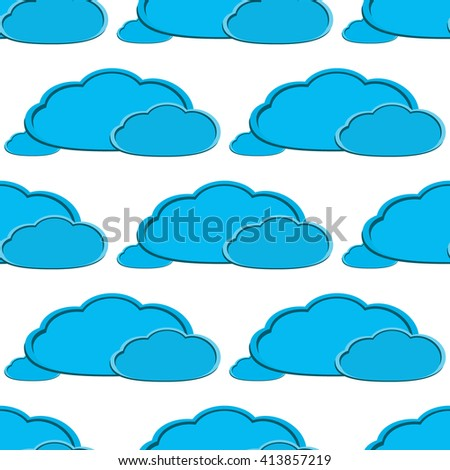 vector cloud background, seamless pattern
