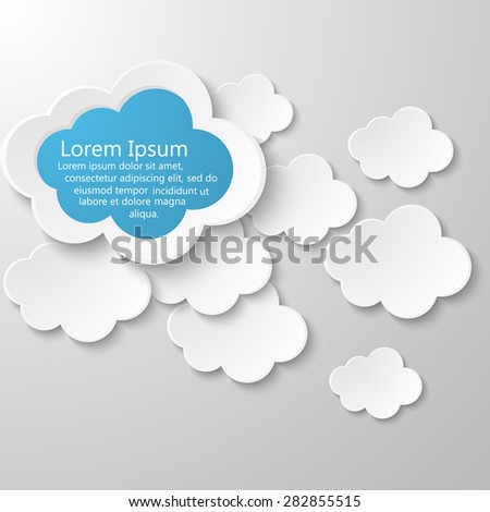 Vector cloud design with place for your text.