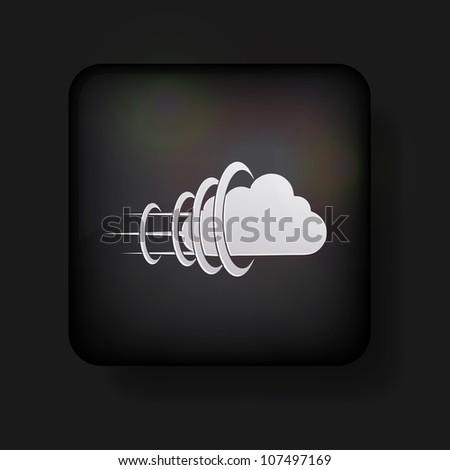 Vector cloud icon on black. Eps 10 - stock vector